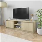 Móvel de TV 120x30x35,5 cm contraplacado cor carvalho sonoma