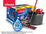 Ultramax da VILEDA: Balde com Espremedor e Mopa com Cabo Tripartido.