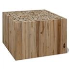 Mesa de centro em madeira de teca genuína 50x50x35 cm