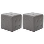 Mesas de cabeceira 2 pcs 30x30x30 cm couro artificial cinzento