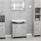 Armário casa de banho 60x33x58 cm contrapl. cinzento cimento