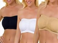 3 Soutiens Luxus Bra com 3 cores, sem alças ou armações e com 4 tamanhos à escolha.