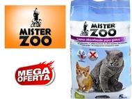 Areia Absorvente 100% Natural para Gatos – Saco Mister Zoo de 5 Kg. PORTES INCLUÍDOS.