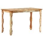 Mesa de jantar 120x60x76 cm madeira recuperada maciça