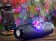Altifalante Portátil Sem Fios com Bola de Discoteca, Bluetooth, Rádio FM, USB e Micro SD.