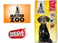 Ração Seca para Cães Adultos – Saco Mister Zoo de 1 ou 2 Kg. PORTES INCLUÍDOS.