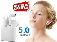 2 Auriculares sem Fios com Bluetooth 5.0, Microfone e Caixa de Carregamento USB.