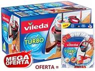 VILEDA TURBO com Esfregona e Balde com Pedal. OFERTA: Recarga Extra. PORTES INCLUIDOS.