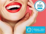 Limpeza Dentária, Polimento e Branqueamento com Jacto Bicarbonato na Oral XXI.