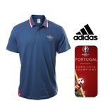 Portugal Campeão Europeu   Adidas Polo Uefa Euro 2016 Blue   Tamanho XL