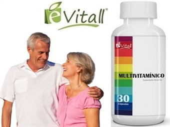 Multivitamínico da é-Vitall: Frasco de 30 Cápsulas para 30 Dias por 11€. Super Vitaminas! Mais Força e Menos Stress! PORTES INCLUÍDOS. ENVIO IMEDIATO!