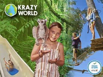 KRAZY WORLD ZOO: Experiências Únicas no Algarve. Entrada de ADULTO, CRIANÇA e FAMÍLIA desde 8.40€. Venha Divertir-se!