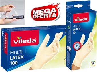 10 ou 100 Luvas Descartáveis Multi Latex VILEDA com 2 Medidas à escolha desde 6€. OFERTA: Caneta Higienizadora com Pulverizador. ENVIO IMEDIATO. PORTES INCLUIDOS.