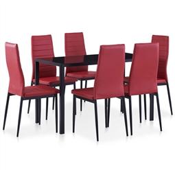 Conjunto de jantar 7 pcs vermelho tinto por 396.66€ PORTES INCLUÍDOS