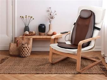 Encosto de Massagem com Comando e Função de Calor Infravermelho e Vibração por 69€. PORTES INCLUÍDOS.