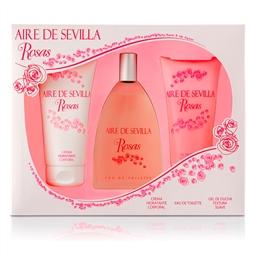 Conjunto de Perfume Mulher Agua Rosas Aire Sevilla (3 pcs) por 26.40€ PORTES INCLUÍDOS
