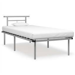 Estrutura de cama 90x200 cm metal cinzento por 136.62€ PORTES INCLUÍDOS