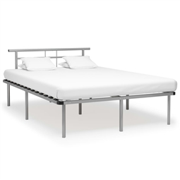 Estrutura de cama metal 140x200 cm cinzento por 202.62€ PORTES INCLUÍDOS