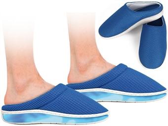 Chinelos de Verão Azuis Anti-Fadiga de Sola com Gel - Tamanho L (42 a 43). Ande com os pés nas nuvens por 14€. PORTES INCLUÍDOS.