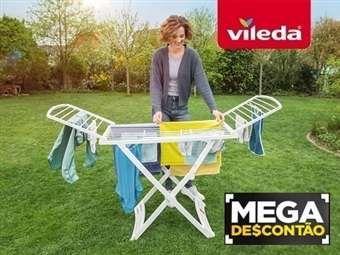 MEGA DESCONTÃO: Estendal Solar da VILEDA. Ideal para Uso Exterior por 29€. Permite estender até 20 m de roupa. PORTES INCLUIDOS.