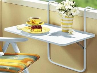 Mesa Suspensa para Varanda por 35€. Permite usufruir do seu café ou refeição ao ar livre. PORTES INCLUIDOS.